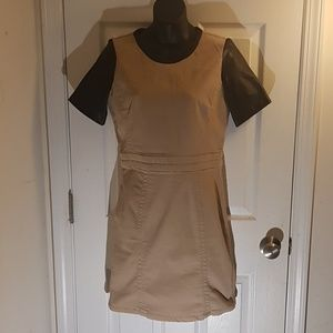 Marc Jacobs Dress with Lamb Leather Sleeves